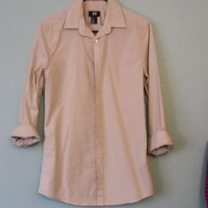 H&M long sleeve button up S light green